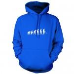 Sweat-shirt à capuche Evolution of Man - motif détecteur de métaux - unisexe - 9 coloris - Bleu - XL